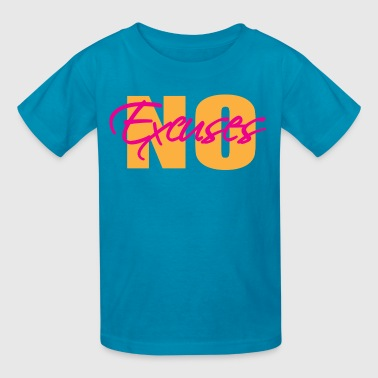 No excuses - neon - Kids' T-Shirt