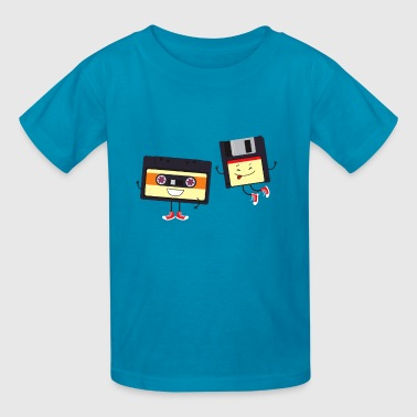 Floppy and cassette tape - Kids' T-Shirt