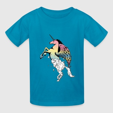 Geo pastel unicorn - Kids' T-Shirt