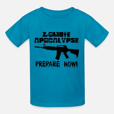 Shawn Of The Dead Zombie Apocalypse Prepare Now! - Kids' T-Shirt
