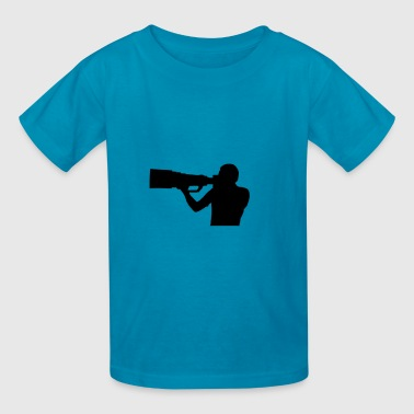 Photographer shape - Kids' T-Shirt