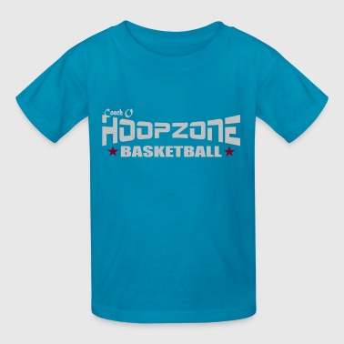 Basketball Hoops Sports Ball Hoopzone Basketball Motivational Inspirational 2Front4dark.png - Kids' T-Shirt