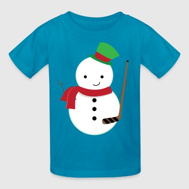 Ice Hockey Player Snowman - Kids' T-Shirt