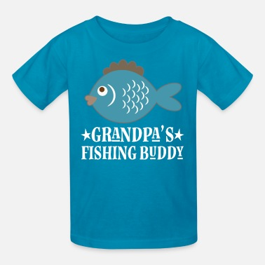 Grandpas Fishing Buddy Grandpa Fishing Buddy Boys - Kids' T-Shirt