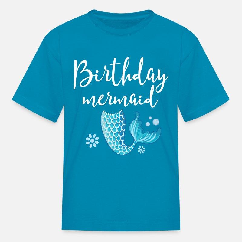 Kids T ShirtBirthday Mermaid Girls