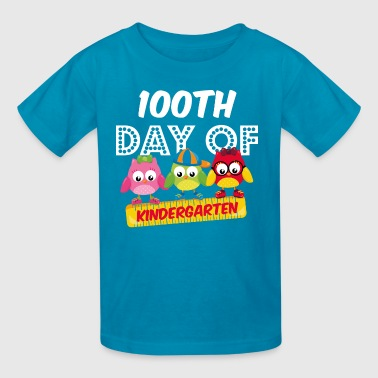 Owl 100 Days Kindergarten - Kids' T-Shirt