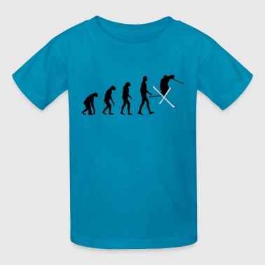 Evolution Of Ski evolution ski - Kids' T-Shirt