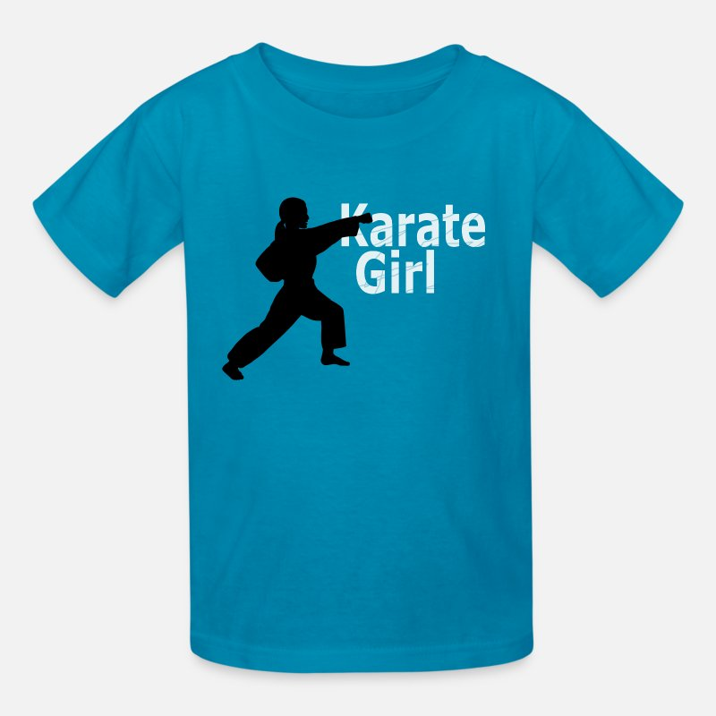 Karate T-Shirts - Karate Girl T shirt - Kids' T-Shirt turquoise