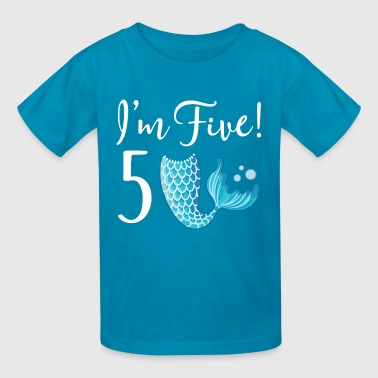 5th Birthday Girls Mermaid - Kids' T-Shirt
