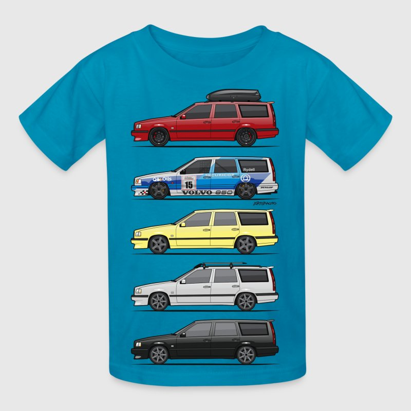 Stack of  Volvo 850R T5 Wagons - Kids' T-Shirt