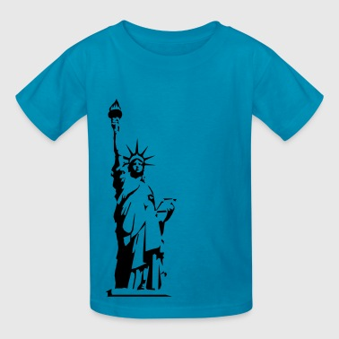 Liberty High Statue of Liberty - VECTOR - Kids' T-Shirt