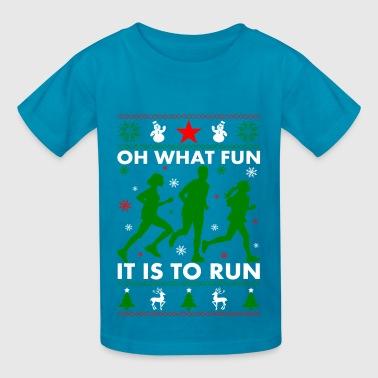 Ugly Christmas Runner - Kids' T-Shirt