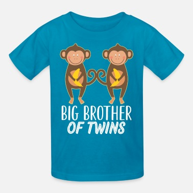 Big Brother To Twins Big Brother Of Twins Cute Monkeys - Kids' T-Shirt