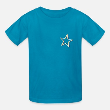 Neon Signs a neon sign as a star - Kids' T-Shirt