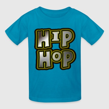 Hip Hop Dance Crew Hip Hop, Large, With Metallic Effects--DIGITAL DIRECT PRINT - Kids' T-Shirt