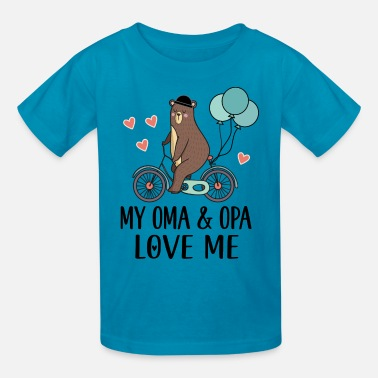 Opa And Grandson Oma and Opa Love Me Grandson Gift - Kids' T-Shirt