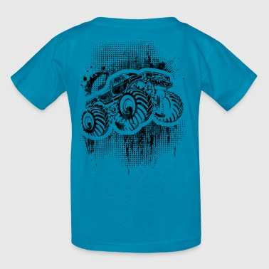 Monster Truck Grungy blk - Kids' T-Shirt