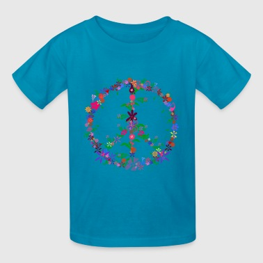 Peace Flower Dome - Kids' T-Shirt