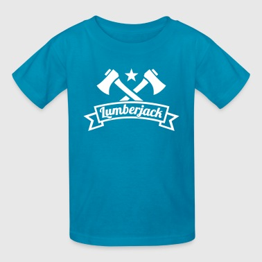 Crossed Axes Lumberjack - Kids' T-Shirt