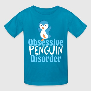 Disorder Cute Blue Penguin - Kids' T-Shirt