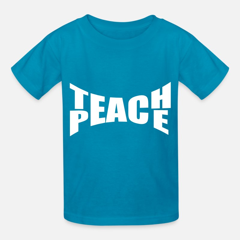 Teach T-Shirts - Teach Peace - Kids' T-Shirt turquoise