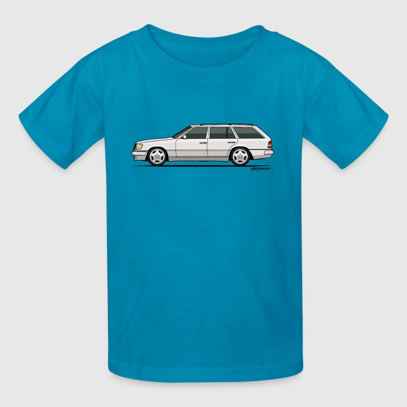 Mercedes W124 300TE Wagon (White) - Kids' T-Shirt