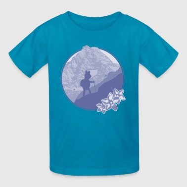 Calgary Rocky Mountains hiking teddy bear - Kids' T-Shirt