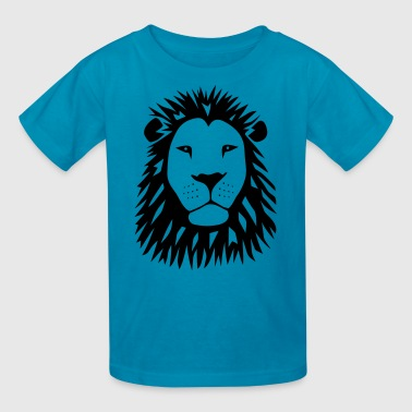 lion tiger cat king animal kingdom africa predator simba strong hunter safari wild wildcat bobcat panther cougar - Kids' T-Shirt