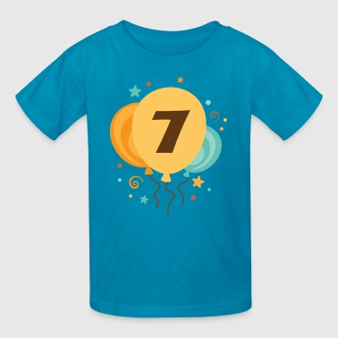 7 Year Old 7th Birthday Party Balloons 7 Year Old - Kids' T-Shirt