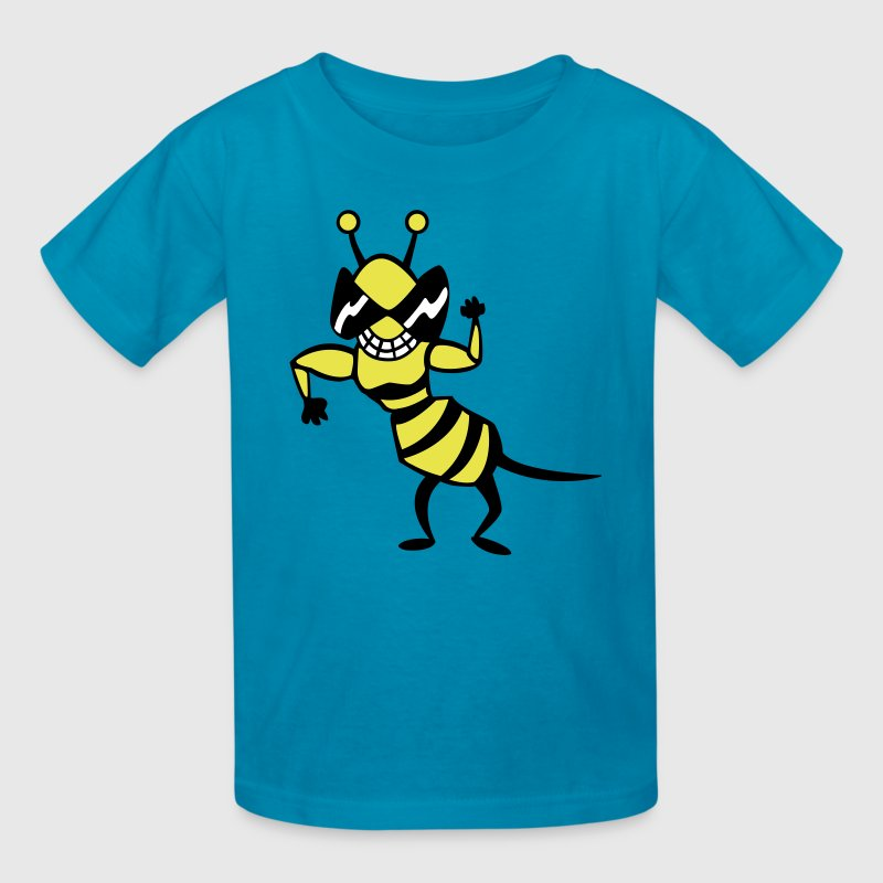 cool bee - wasp - Kids' T-Shirt