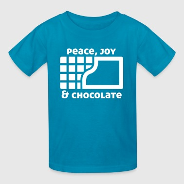 Peace, joy & chocolate (dark) - Kids' T-Shirt