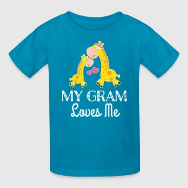 Love My Gram My Gram Loves Me Giraffe Grandkid Gift - Kids' T-Shirt