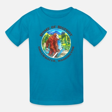 Bigfoot Sasquatch Yeti Yowie bfshirt w text.png - Kids' T-Shirt