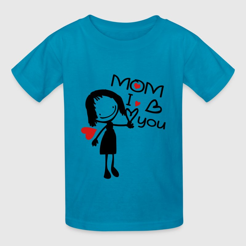 MOM I LOVE YOU - Kids' T-Shirt