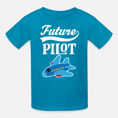 Commercial Designer Girl Future Pilot Childs Airplane Job Gift - Kids' T-Shirt