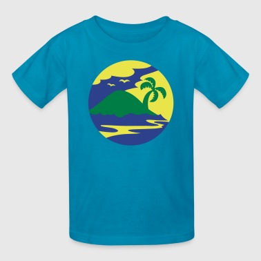 awesome island in a circle Holiday!!! - Kids' T-Shirt
