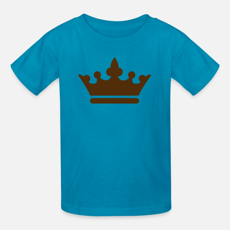 Cool T-Shirts - simple royalty prince princess king queen crown - Kids' T-Shirt turquoise
