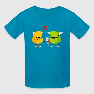 Monster love - Kids' T-Shirt