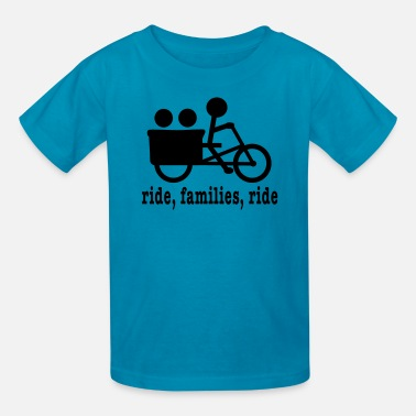 Cargo Bike Madsen Ride (lower case) - Kids' T-Shirt