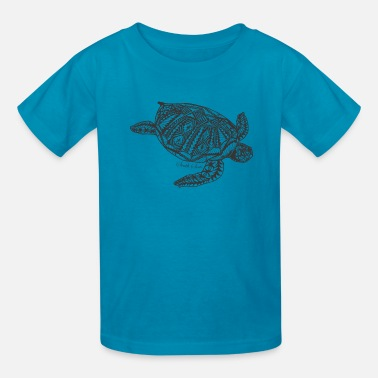 Tropical Tropical turtle - Kids' T-Shirt