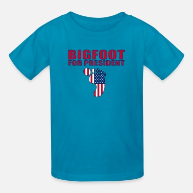 Bigfoot Sasquatch Yeti Yowie Bigfoot for President - Kids' T-Shirt