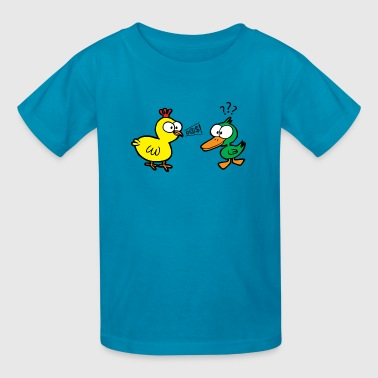 Chicken Talks to Duck! Kids' Tee - Kids' T-Shirt
