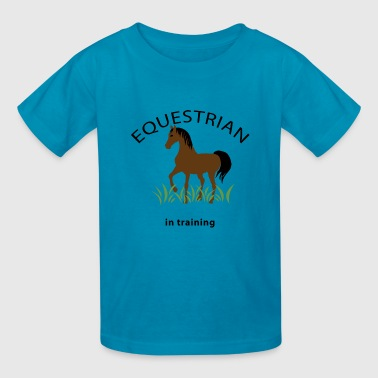 Equestrian in Training - Kids' T-Shirt