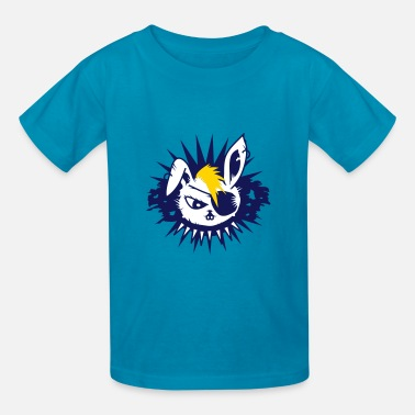 Eye Patch  rabbit with an eye patch and a mohawk - Kids' T-Shirt