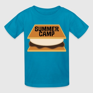 Summer Camp Marshmallow Roasting - Kids' T-Shirt