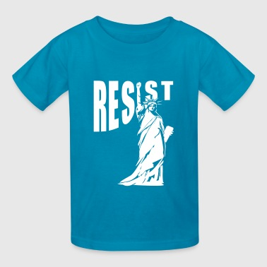 lady liberty resist fist - Kids' T-Shirt