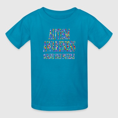 Autism Awareness Solve The Puzzle - Kids' T-Shirt