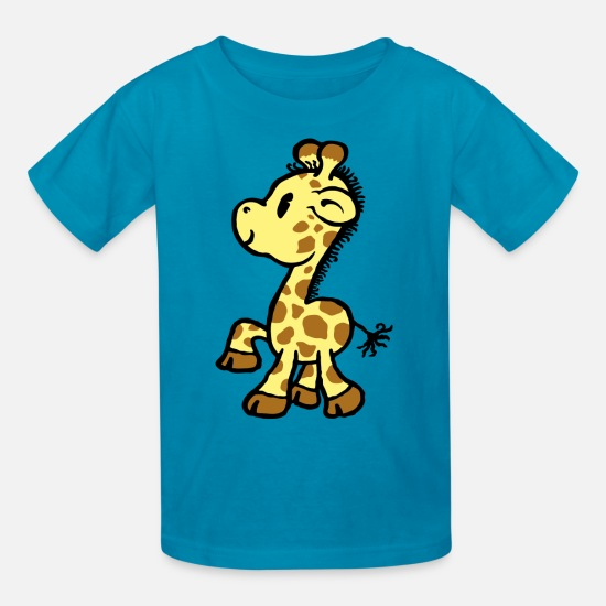 Babyproducts T-Shirts - giraffe - Kids' T-Shirt turquoise