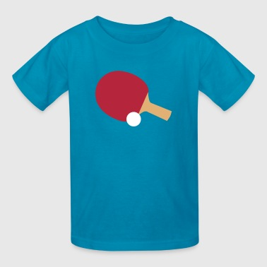 Ping Pong Bat & Ball - Kids' T-Shirt