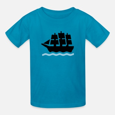 Ship At Sea Sailing Sea Battle Ship - Kids' T-Shirt